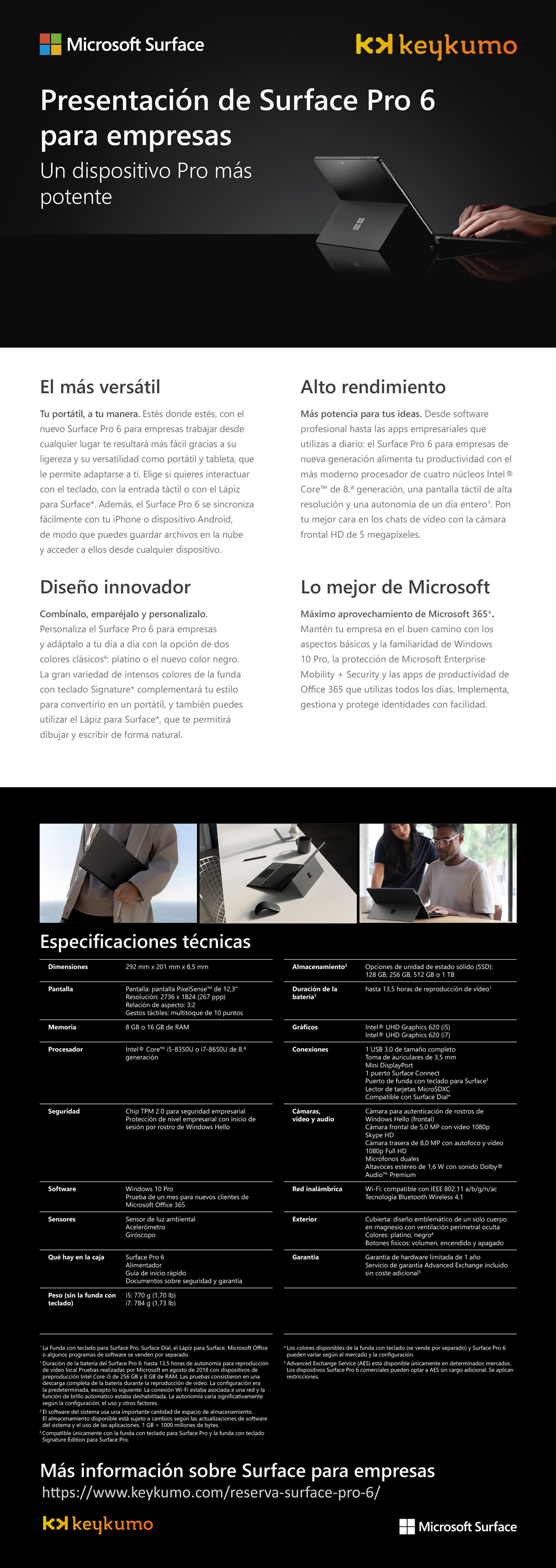 Surface Pro 6 España