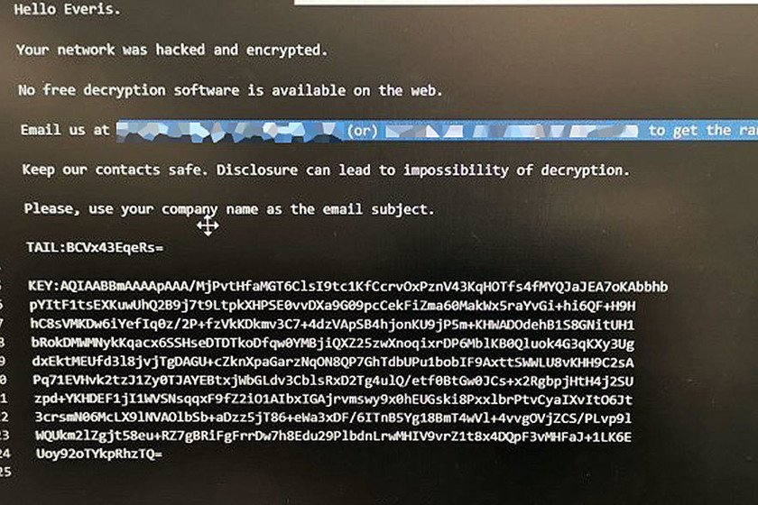 Ataque ransomware SER